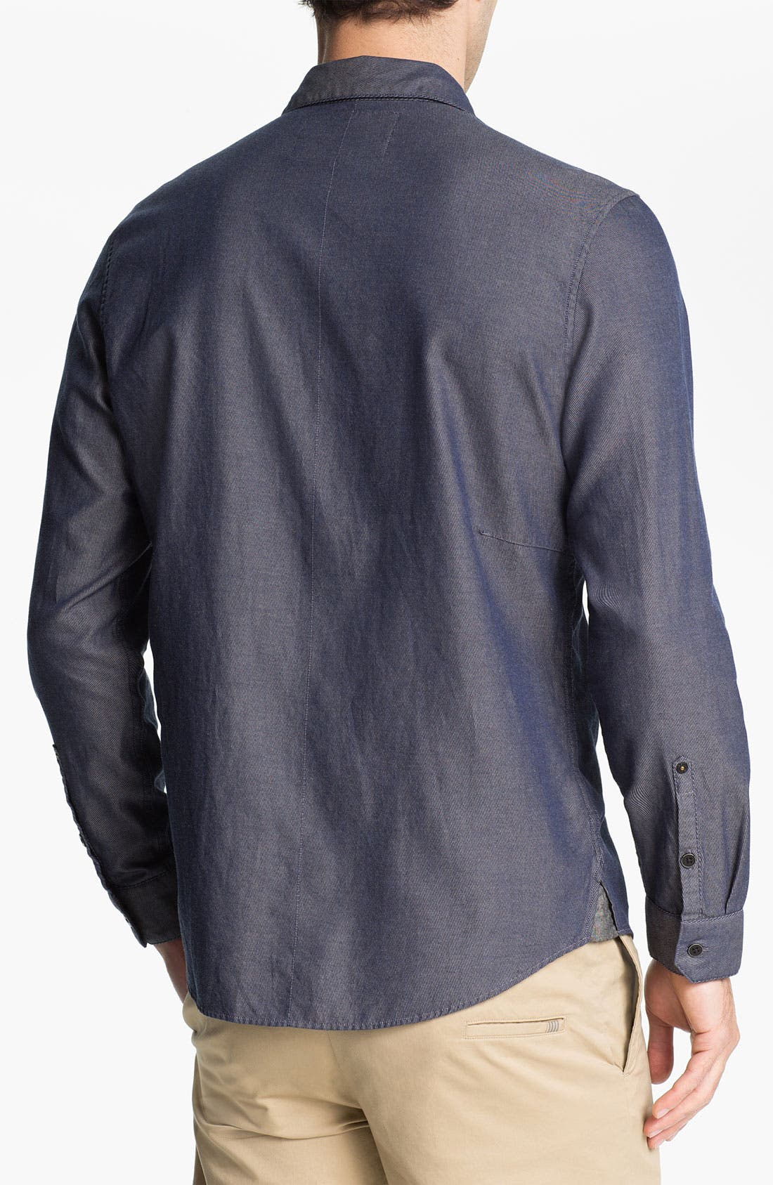 Alternate Image 2  - R44 Rogan Standard Issue Twill Denim Shirt