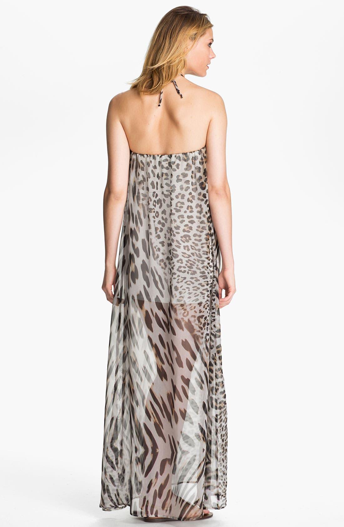 Alternate Image 2  - Young, Fabulous & Broke 'Gila' Leopard Chiffon Maxi Dress