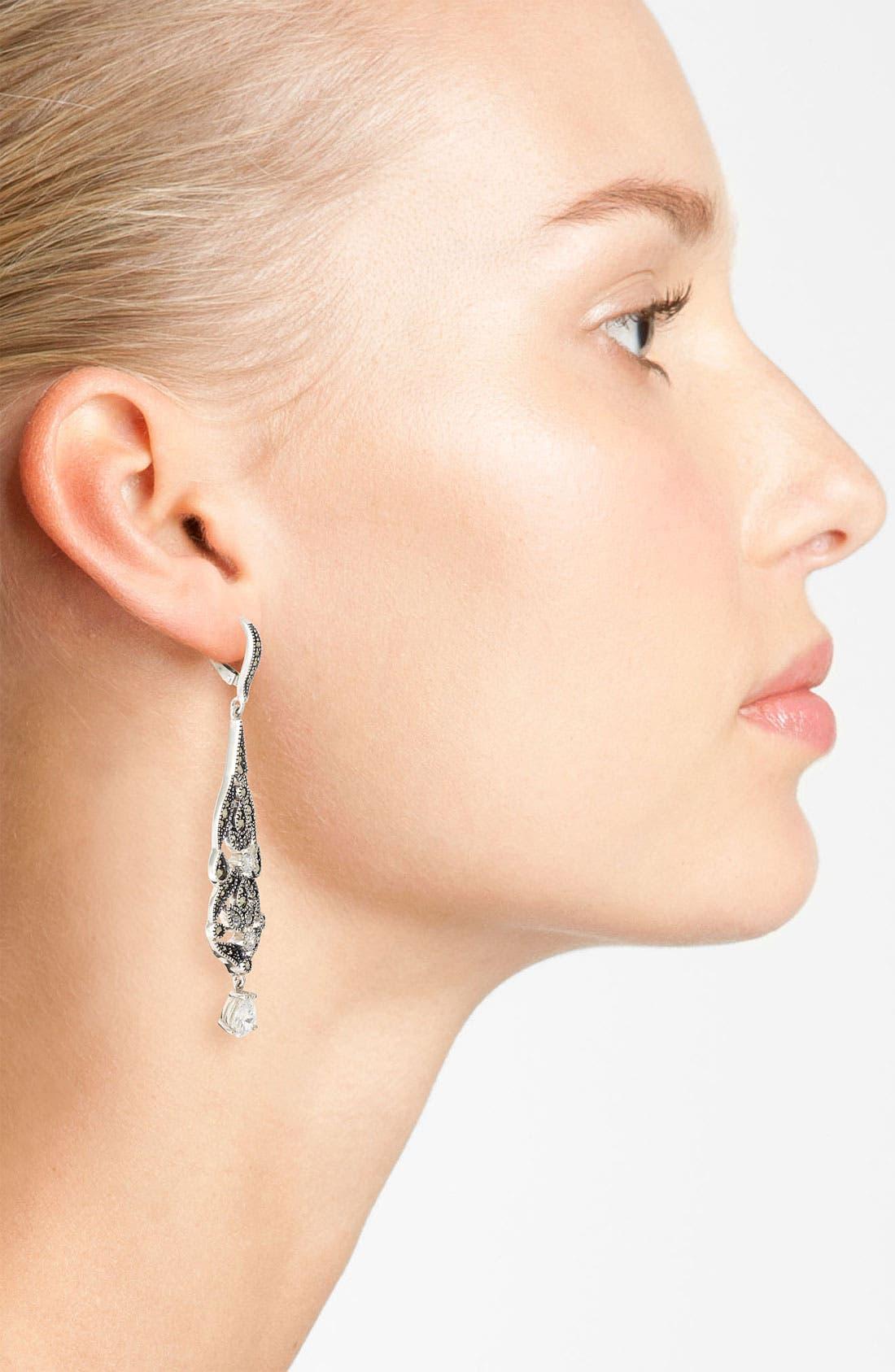Alternate Image 2  - Judith Jack 'Glamour' Linear Earrings