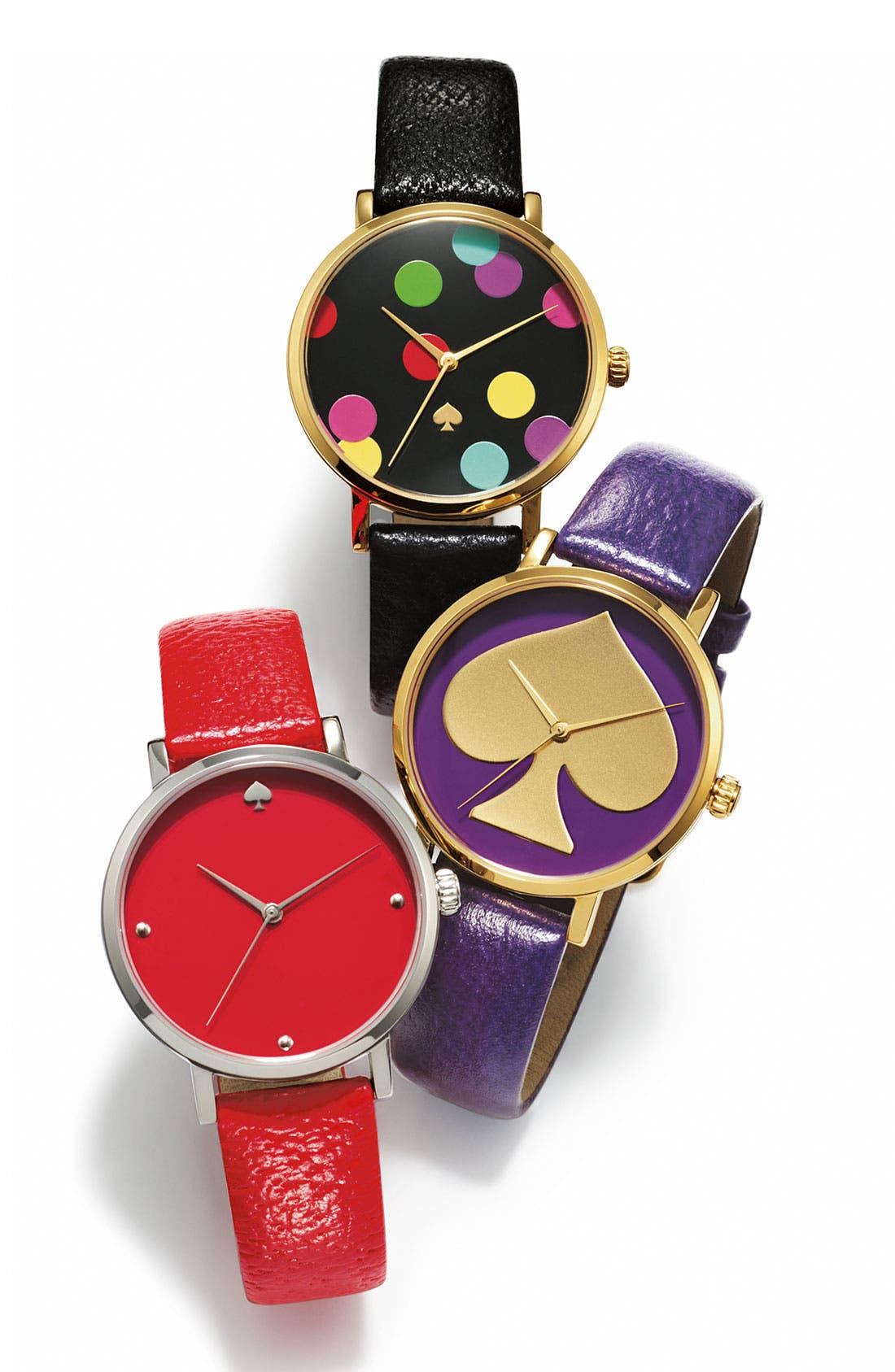 Alternate Image 2  - kate spade new york 'metro' leather strap watch