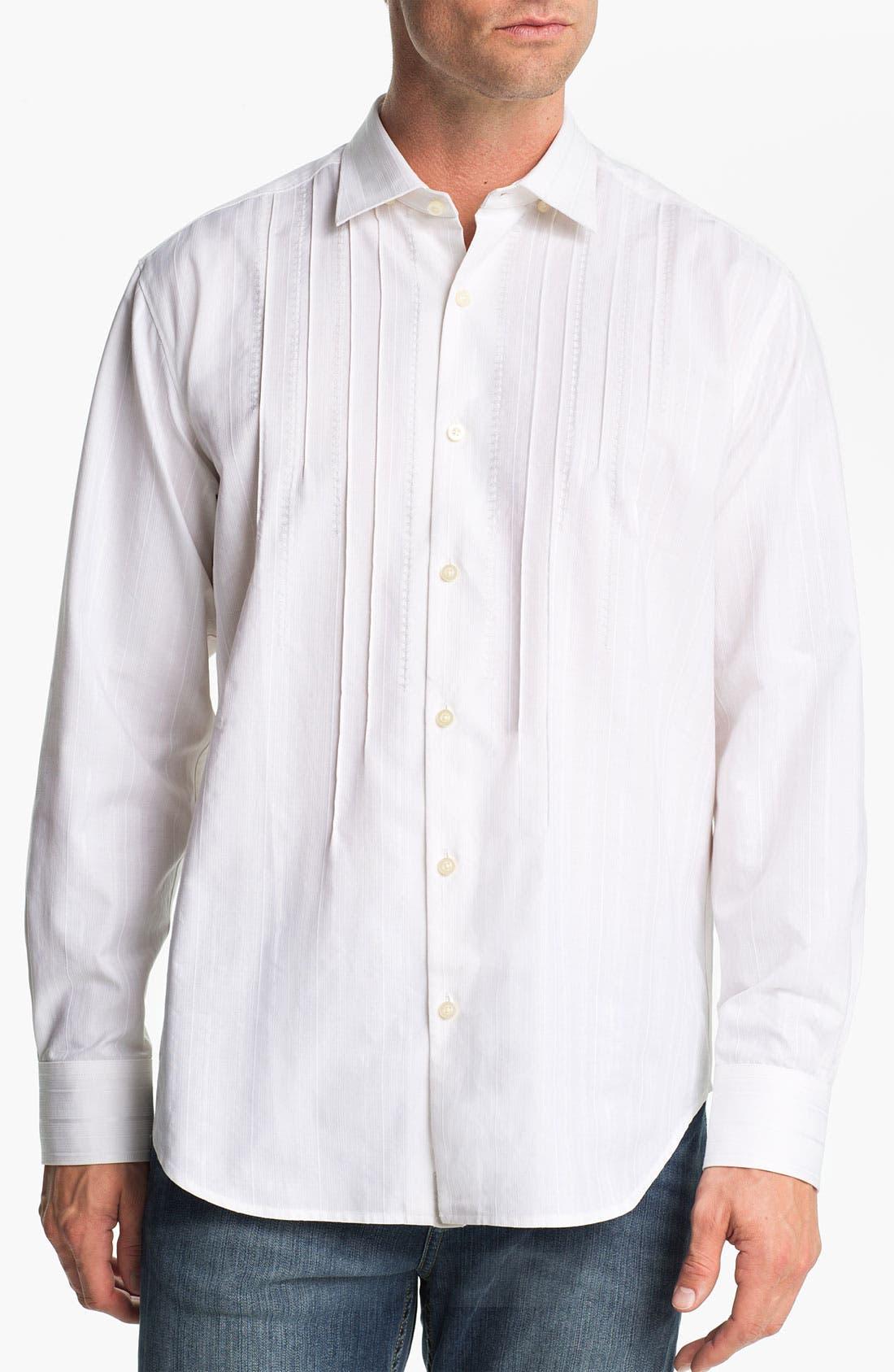 Main Image - Tommy Bahama 'Pintux' Cotton & Silk Sport Shirt