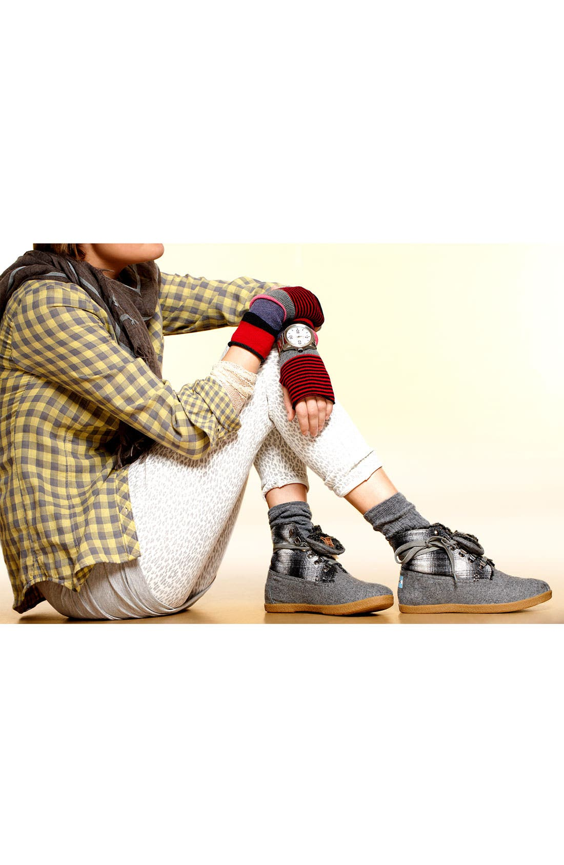 Alternate Image 5  - TOMS 'Botas - Mix Plaid' Boot (Women)