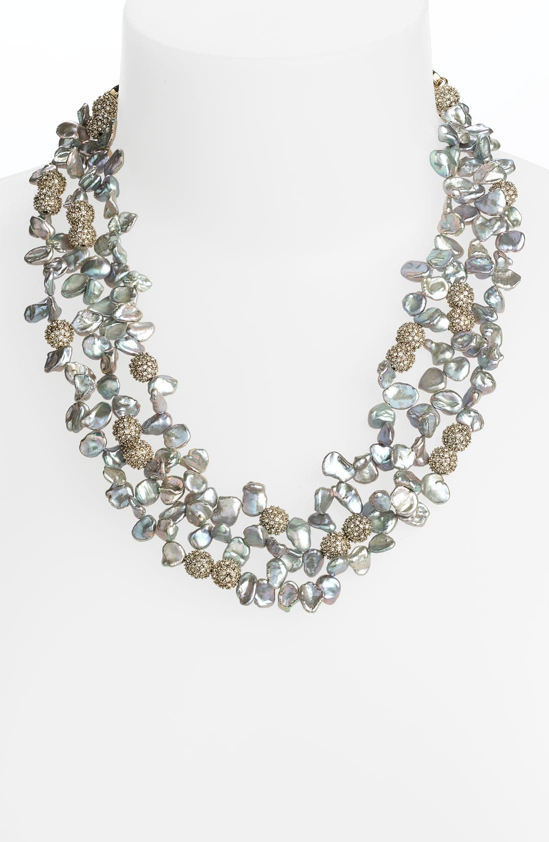 Alternate Image 1 Selected - St. John Collection Grey Keshi Pearl Necklace