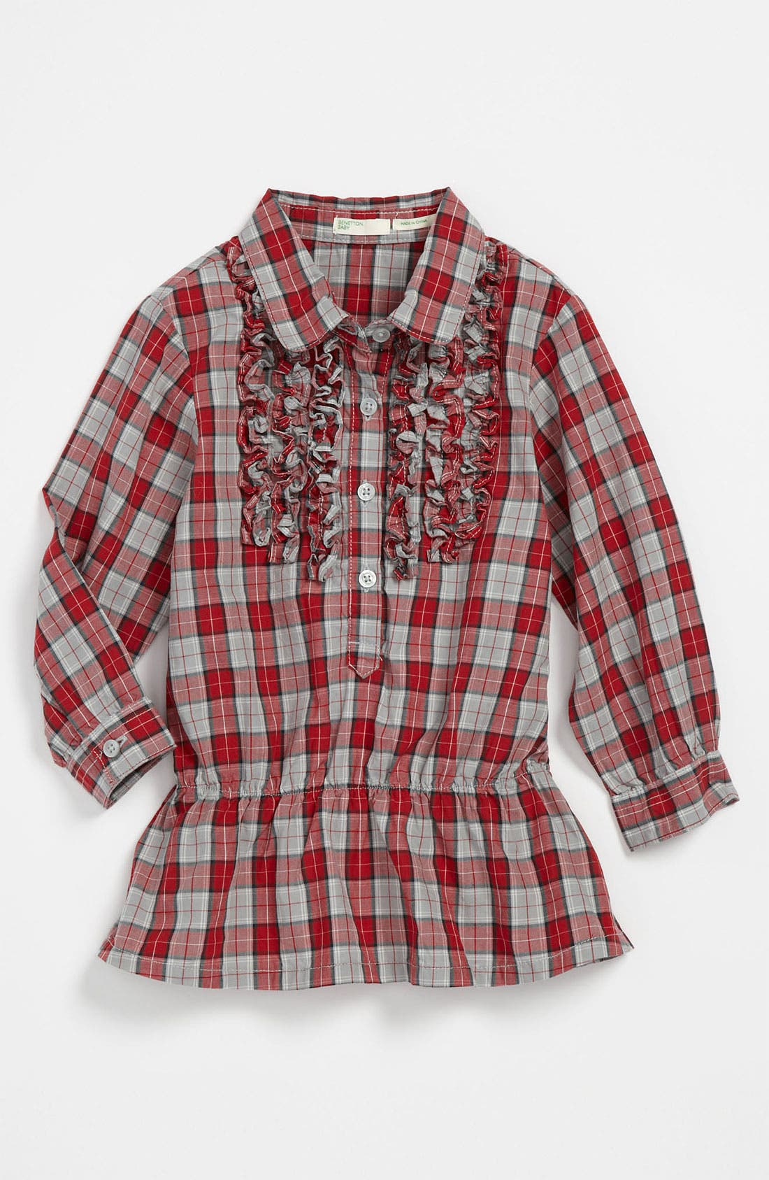 Main Image - United Colors of Benetton Kids Plaid Tunic (Infant)