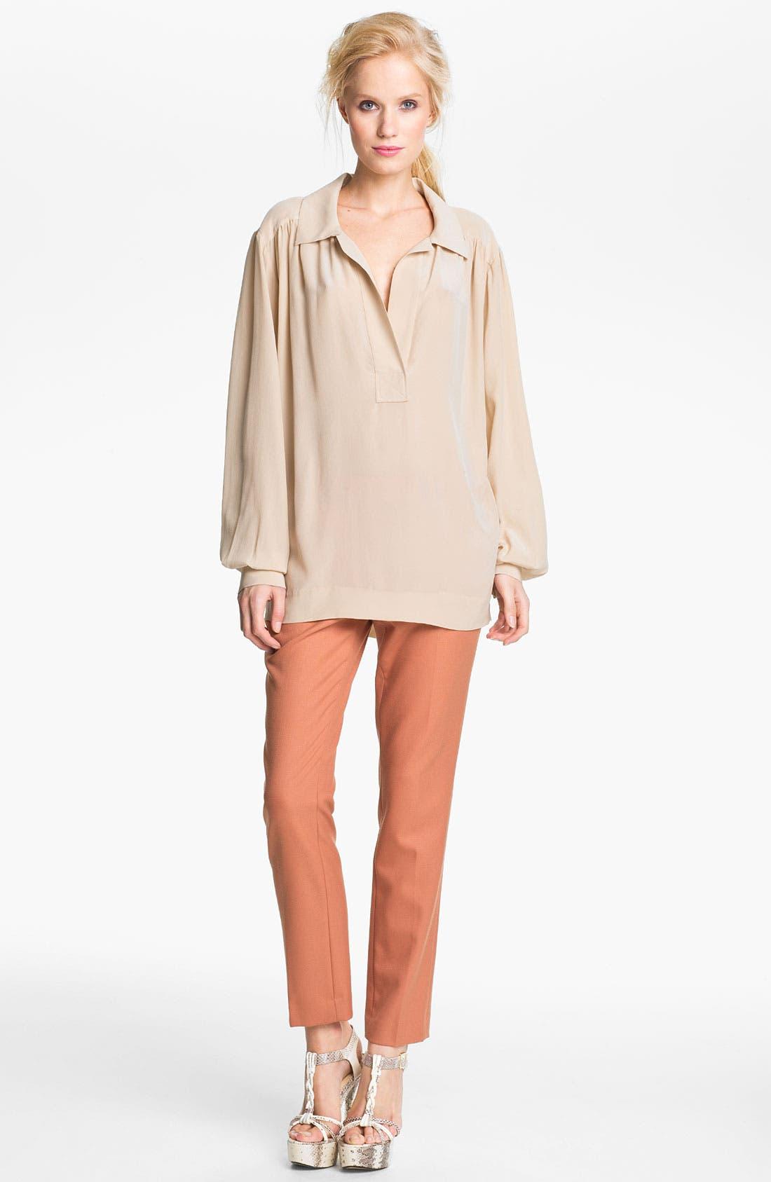 Alternate Image 3  - Rachel Zoe 'Malin' Bishop Sleeve Silk Blouse