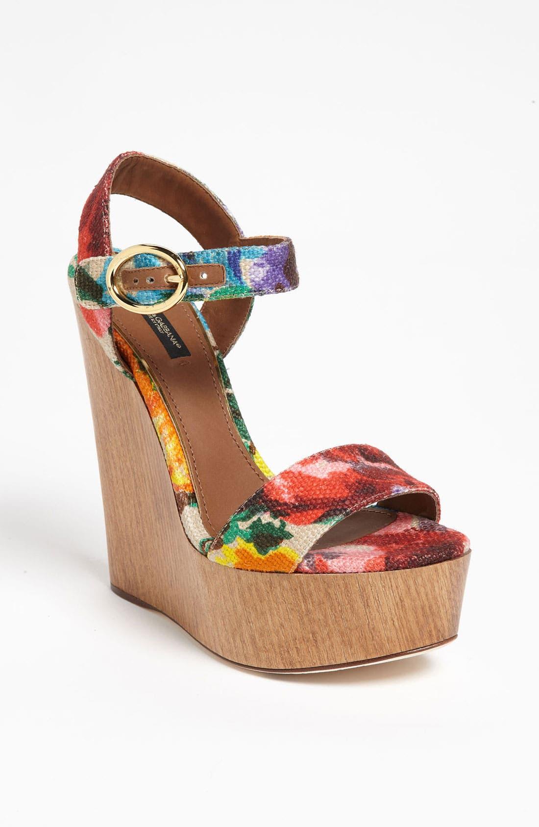Alternate Image 1 Selected - Dolce&Gabbana Floral Sandal