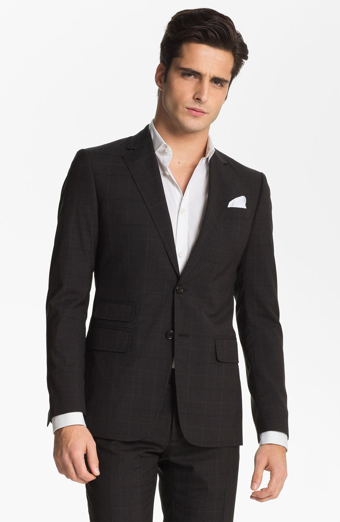 Main Image - Dsquared2 Check Virgin Wool Suit