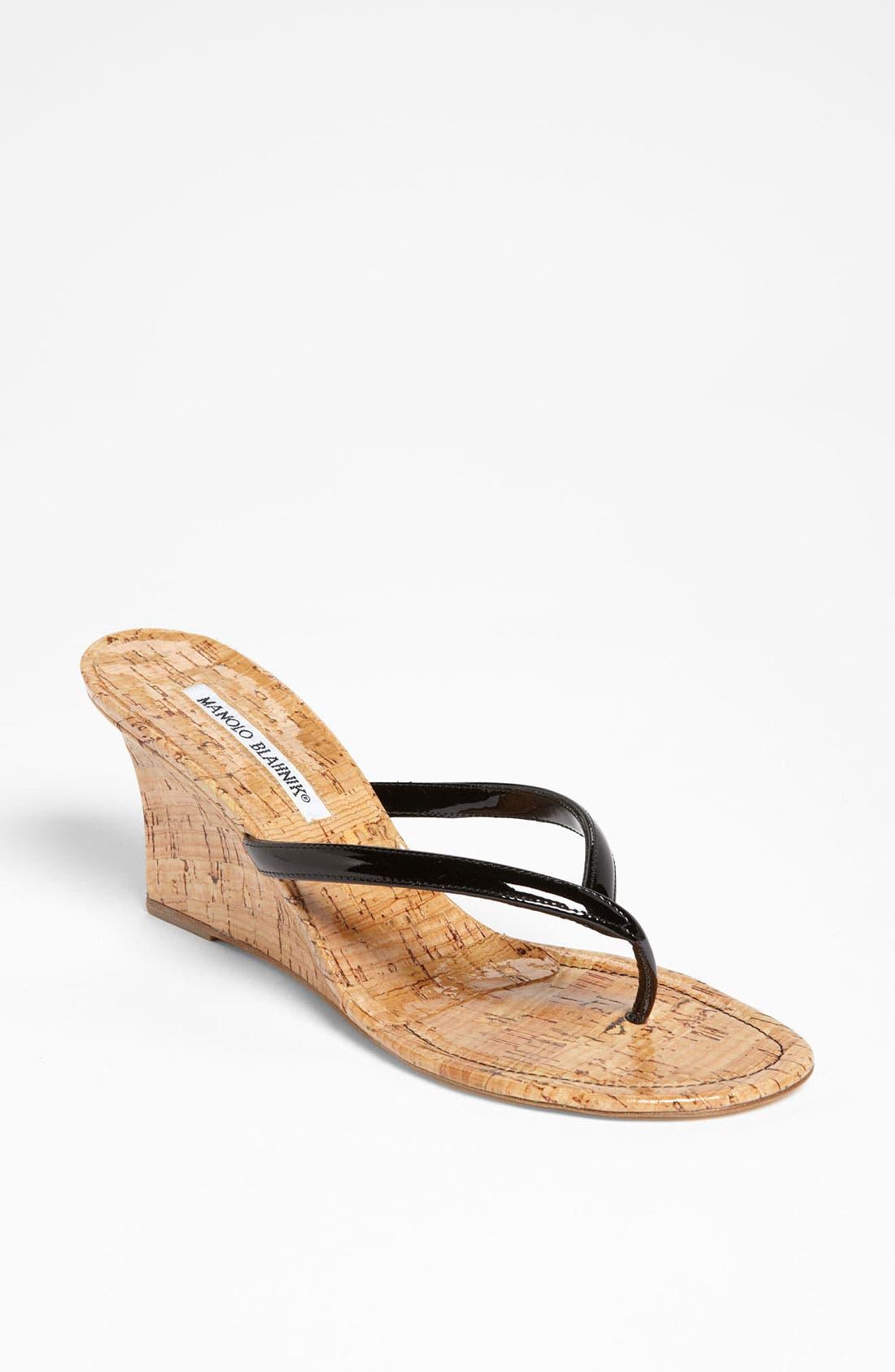 Alternate Image 1 Selected - Manolo Blahnik 'Patwedge' Sandal