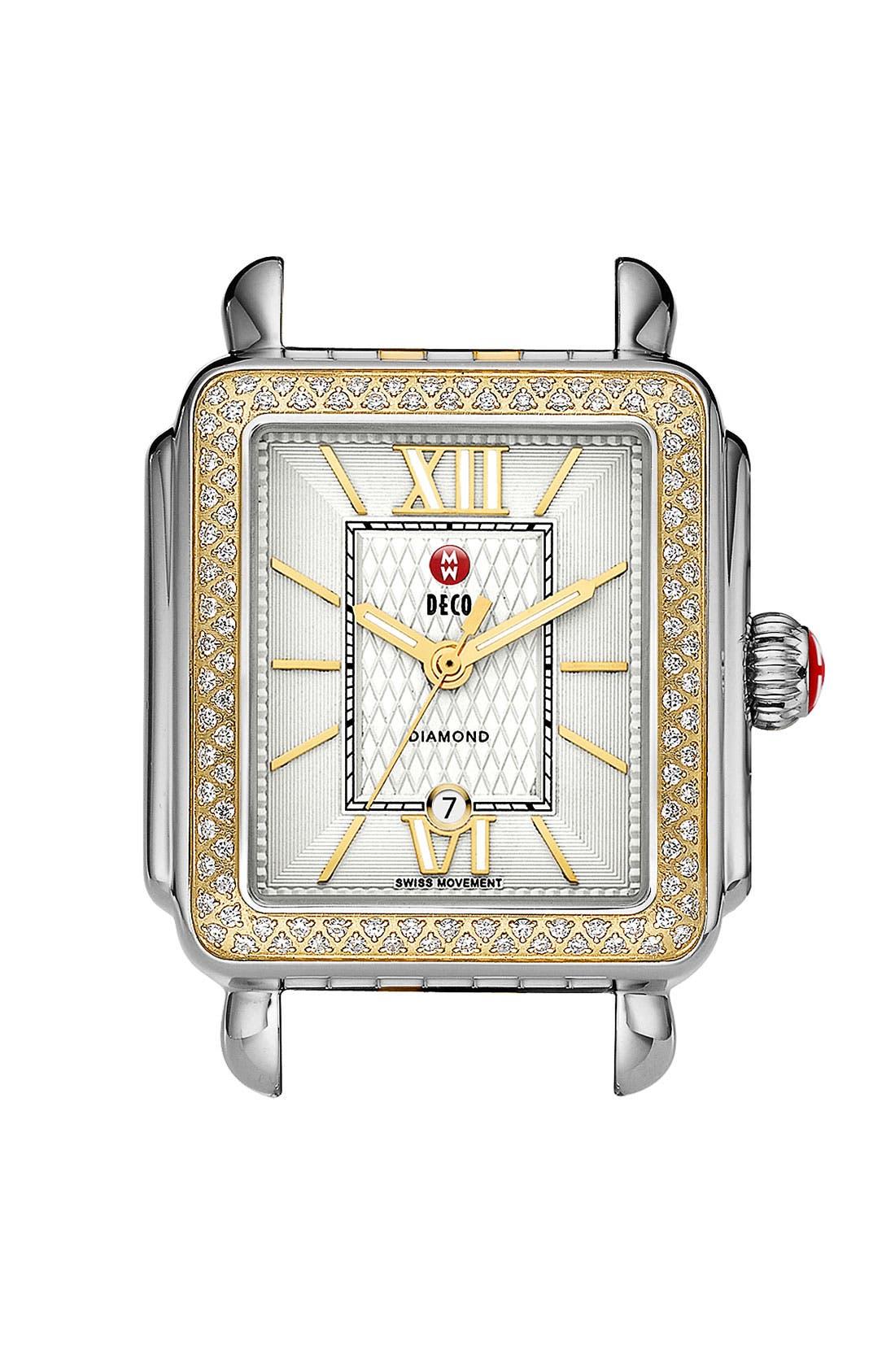 Main Image - MICHELE 'Deco Diamond' Guilloche Dial Watch Case, 33mm x 35mm