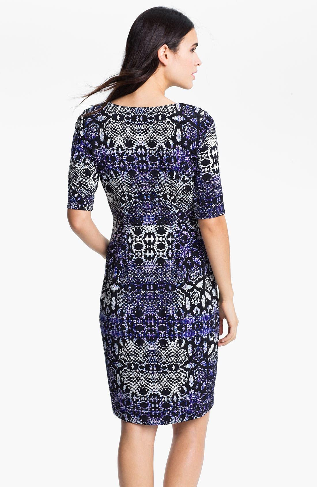 Alternate Image 2  - Maggy London Python Print Jersey Faux Wrap Dress