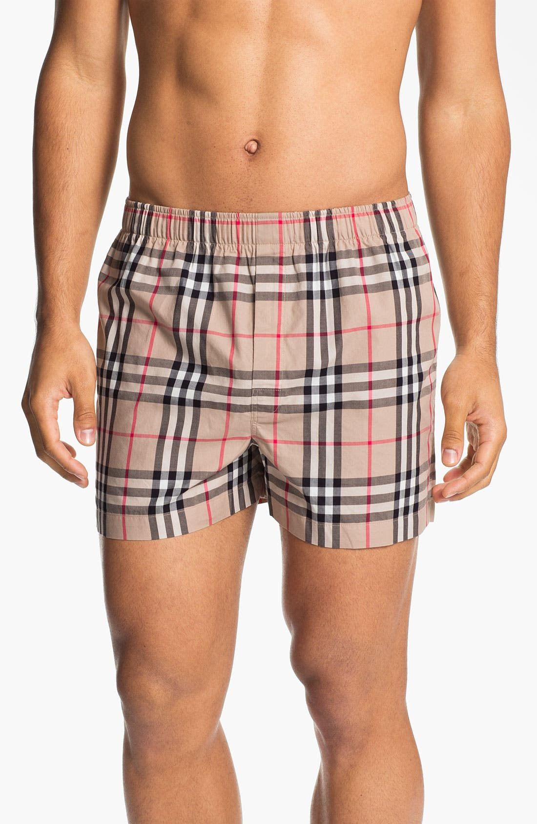 Main Image - Burberry Cotton Boxers (Assorted 3-Pack)