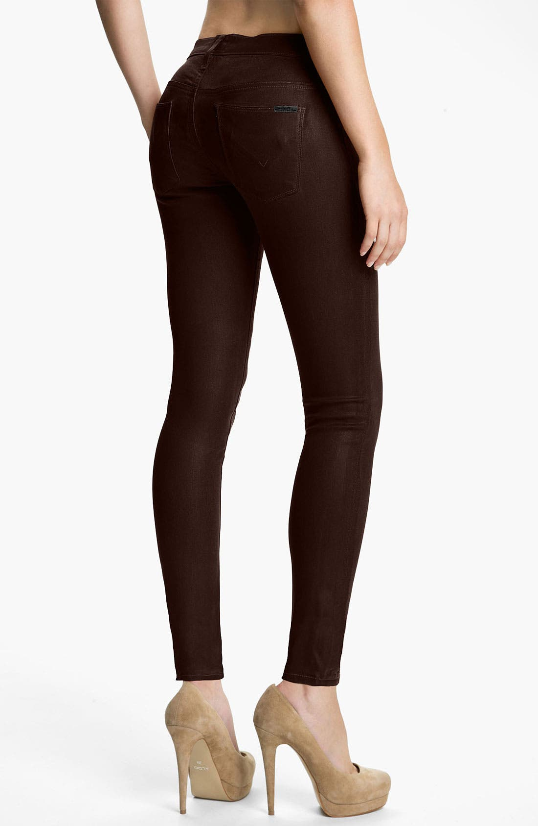Alternate Image 2  - Hudson Jeans 'Krista' Super Skinny Jeans (Stout Wax)