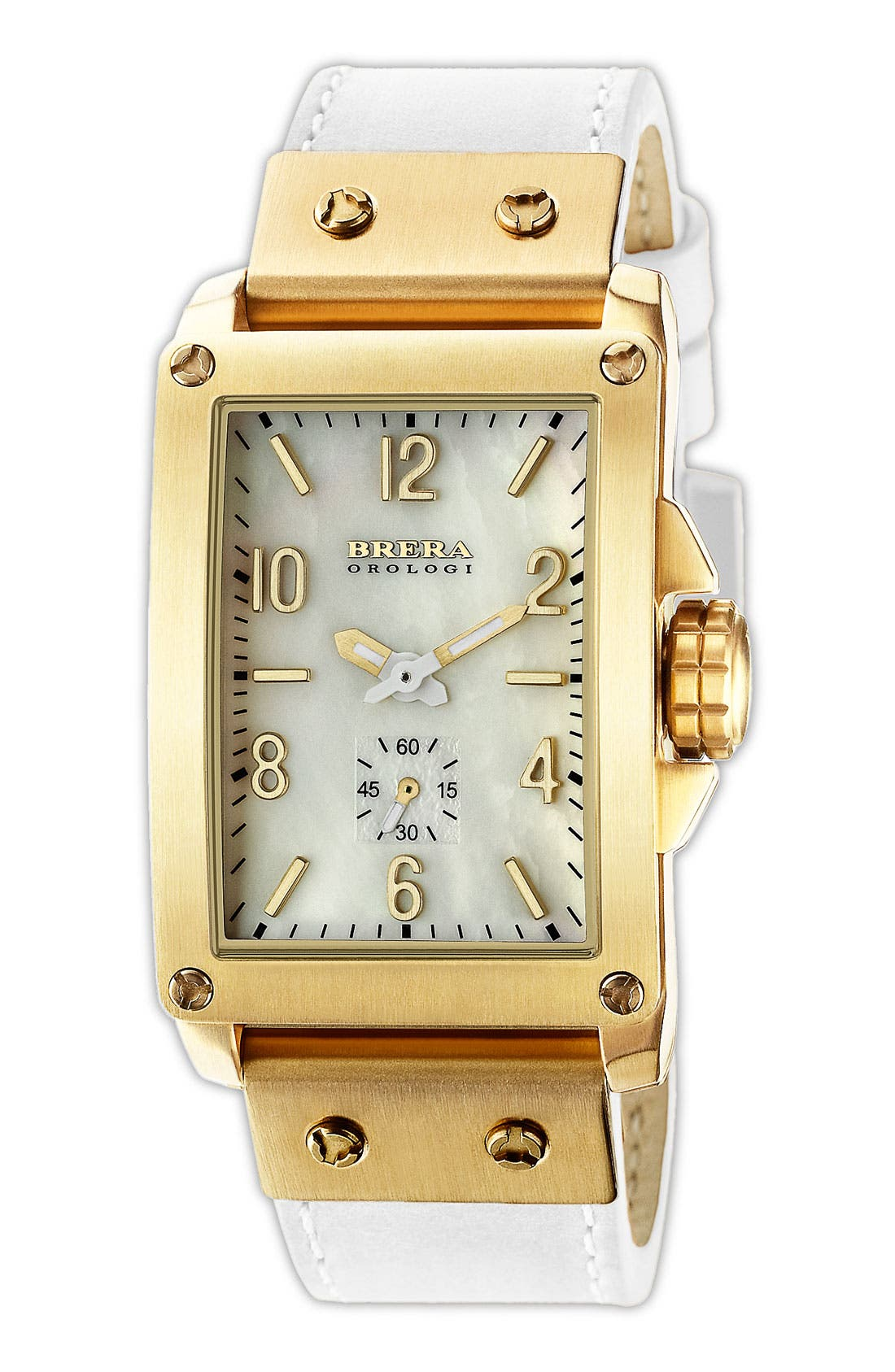 Main Image - FRANCESCA TANK WATCH WITH LEATHER STRAP