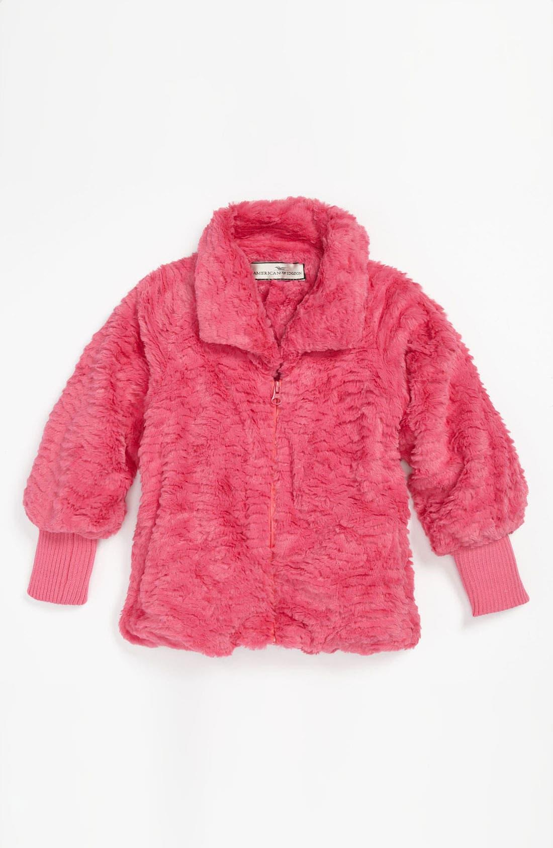 Main Image - Widgeon Faux Fur Jacket (Little Girls)