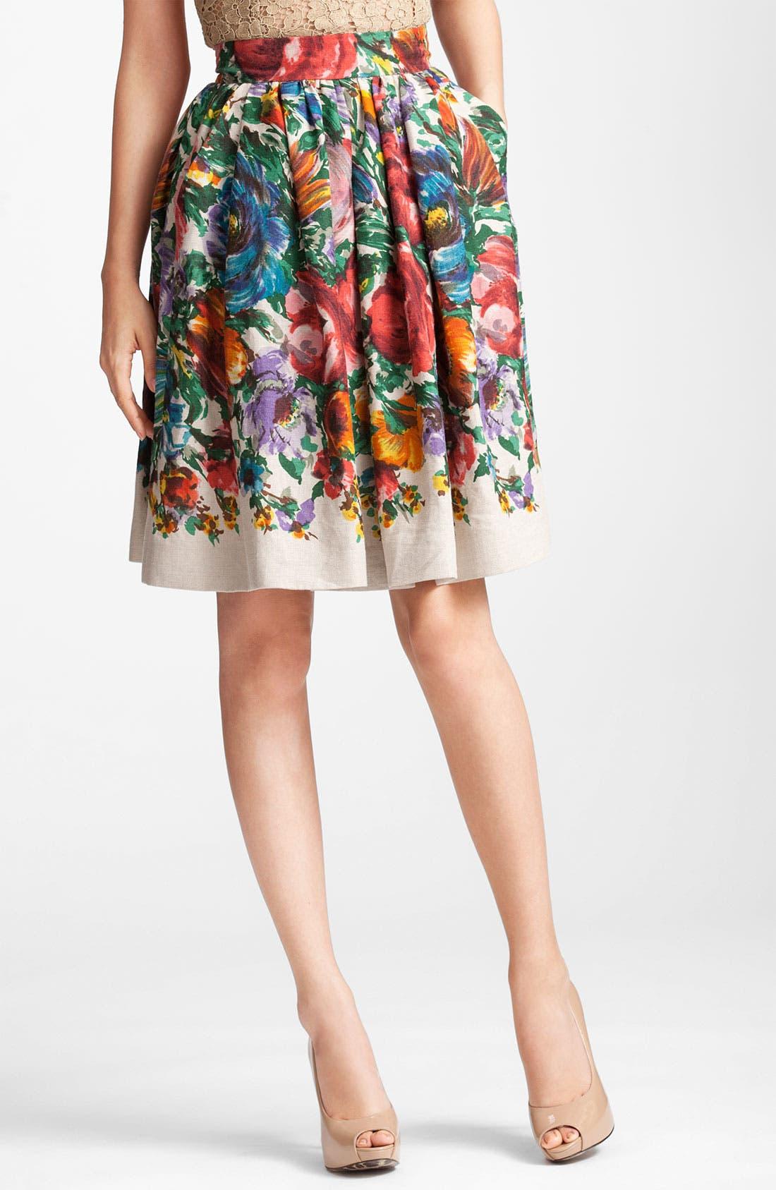 Main Image - Dolce&Gabbana Flower Print Skirt