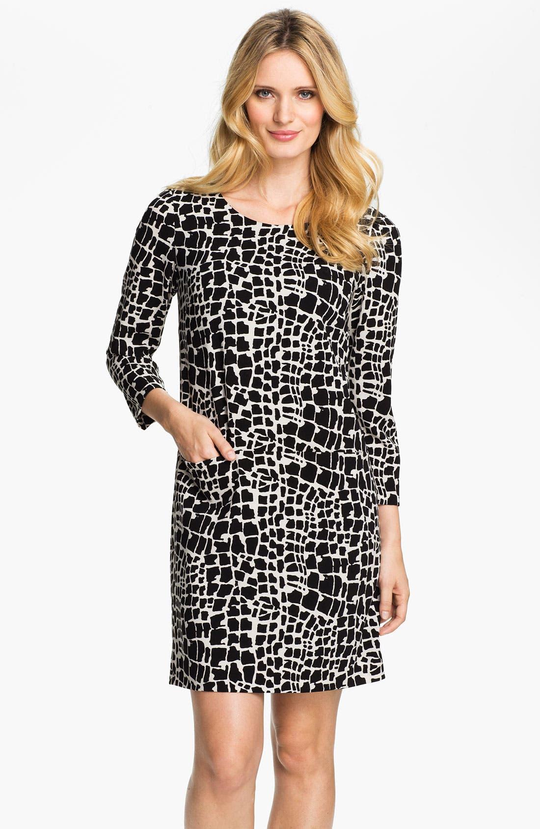 Alternate Image 1 Selected - Tahari Graphic Print Shift Dress