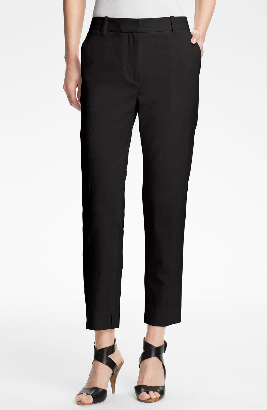 Alternate Image 1 Selected - 3.1 Phillip Lim Crop Stretch Wool Trousers