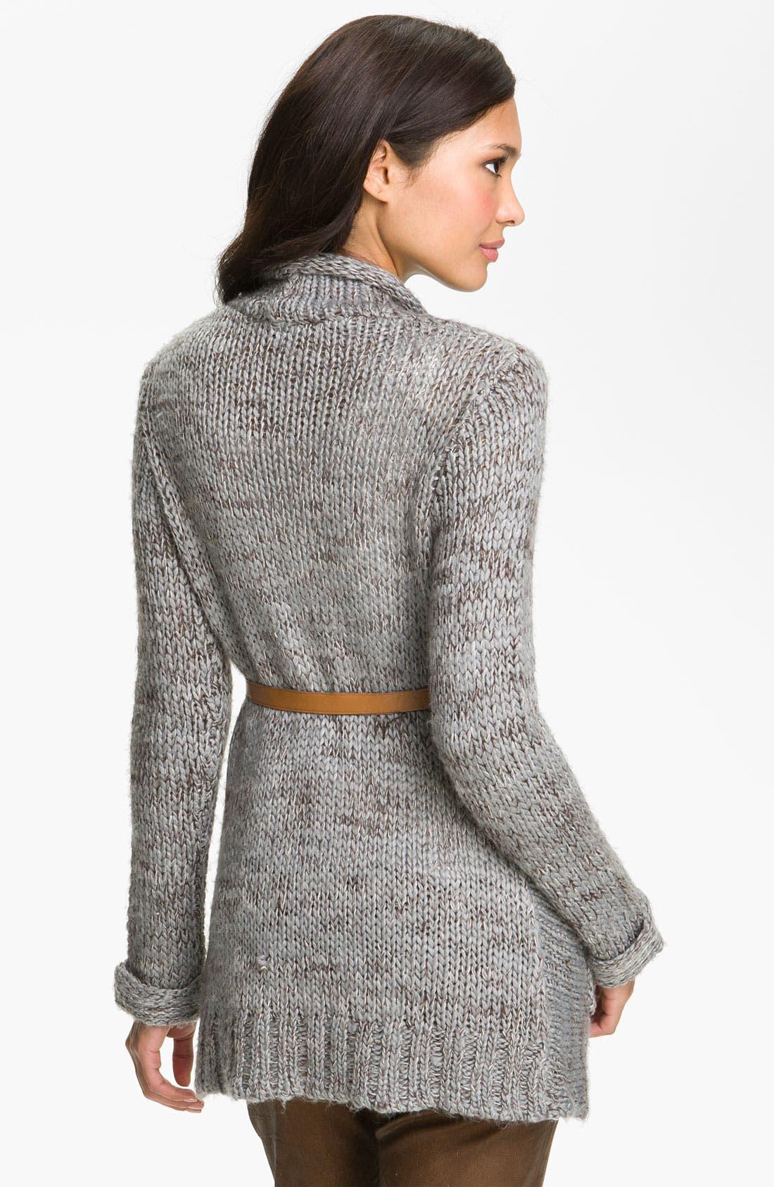 Alternate Image 2  - Payton Belted Long Cardigan (Petite)