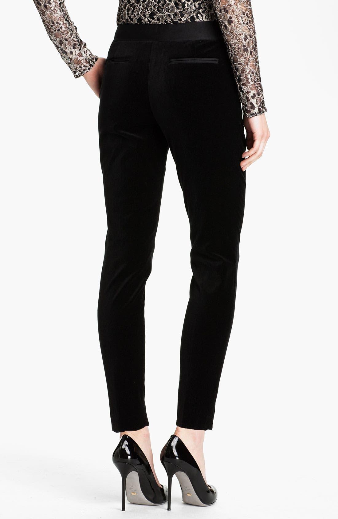 Alternate Image 2  - Ted Baker London Tapered Leg Velvet Trousers