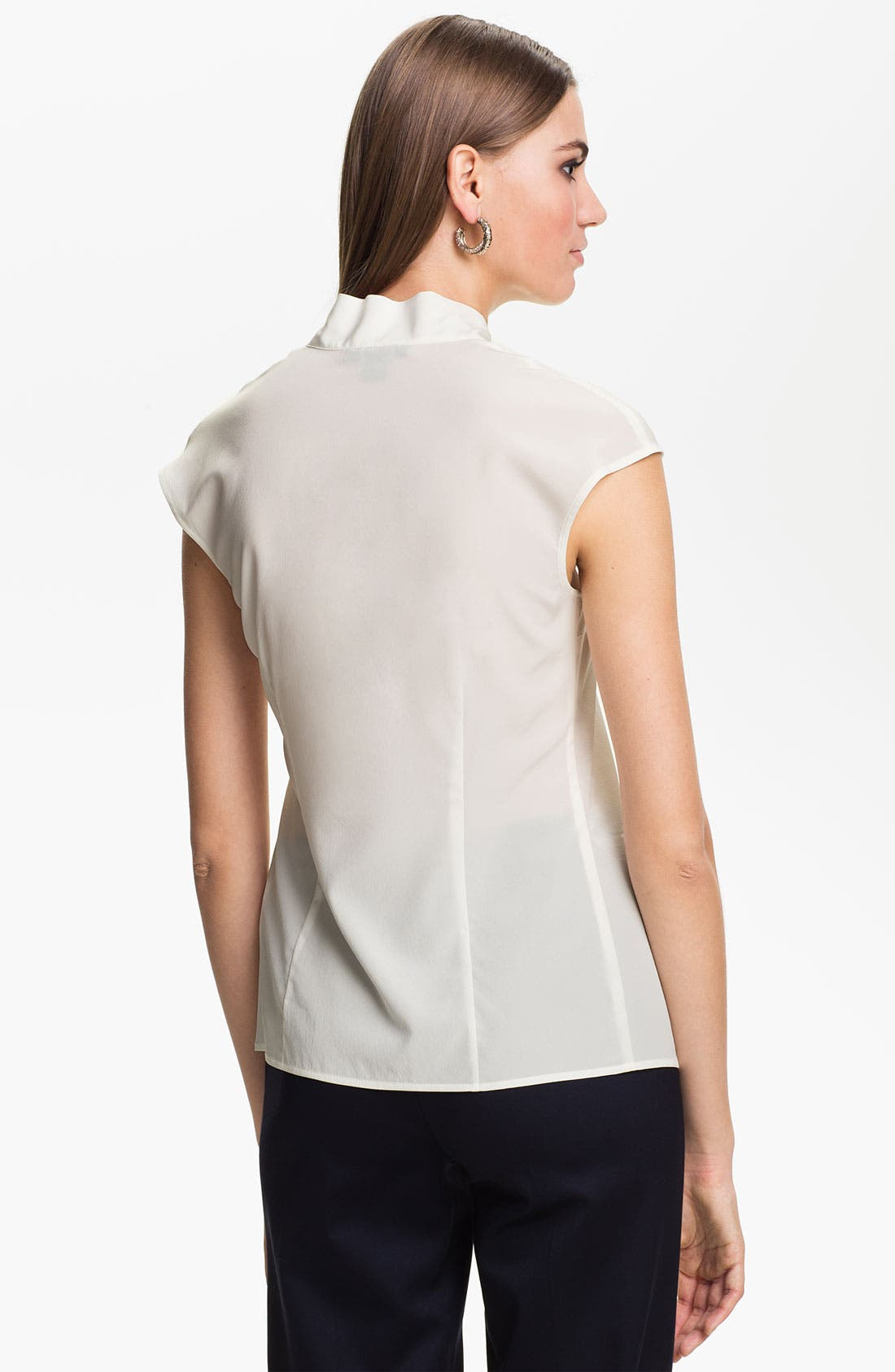 Alternate Image 2  - St. John Collection Cap Sleeve Crepe Top