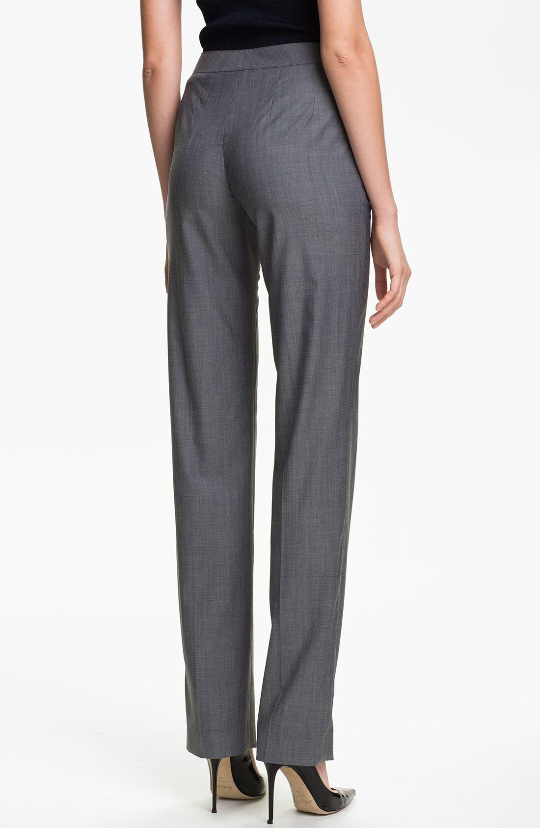 Alternate Image 3  - St. John Collection 'Diana' Straight Leg Mélange Wool Pants