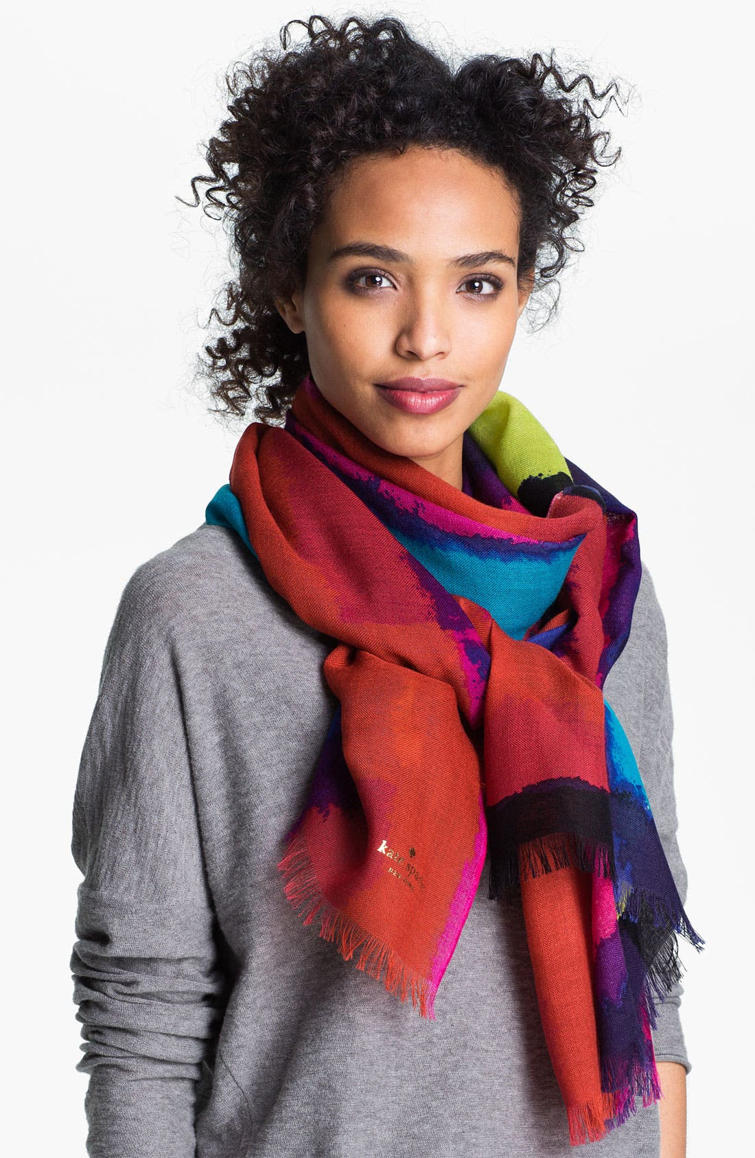 Alternate Image 1 Selected - kate spade new york abstract wool scarf