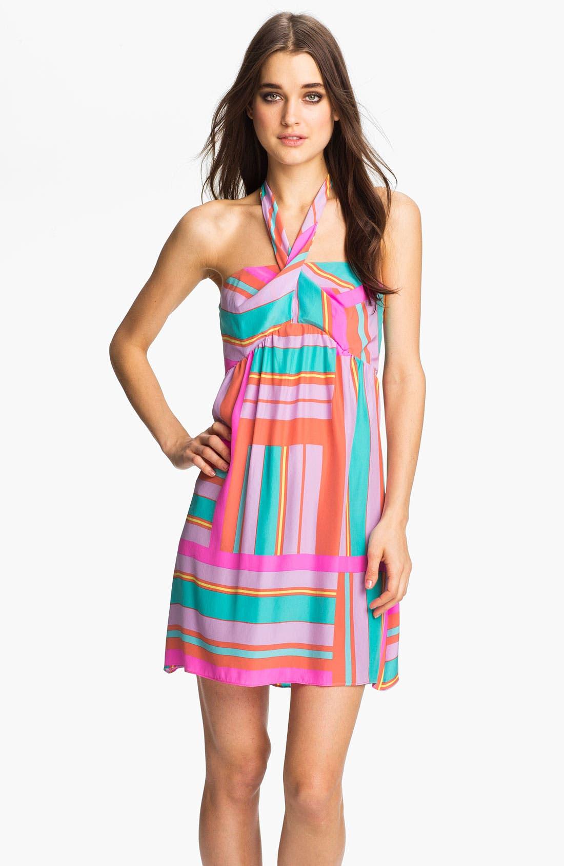 Alternate Image 1 Selected - ALICE & TRIXIE 'Savannah' Printed Silk Halter Dress