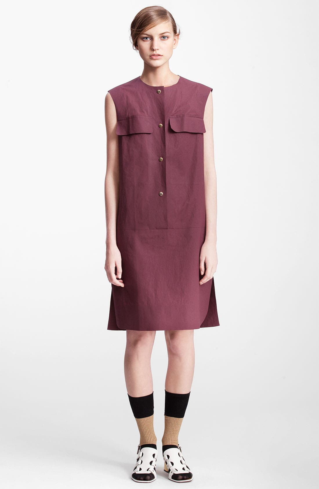 Alternate Image 1 Selected - Marni Edition Sleeveless Poplin Dress