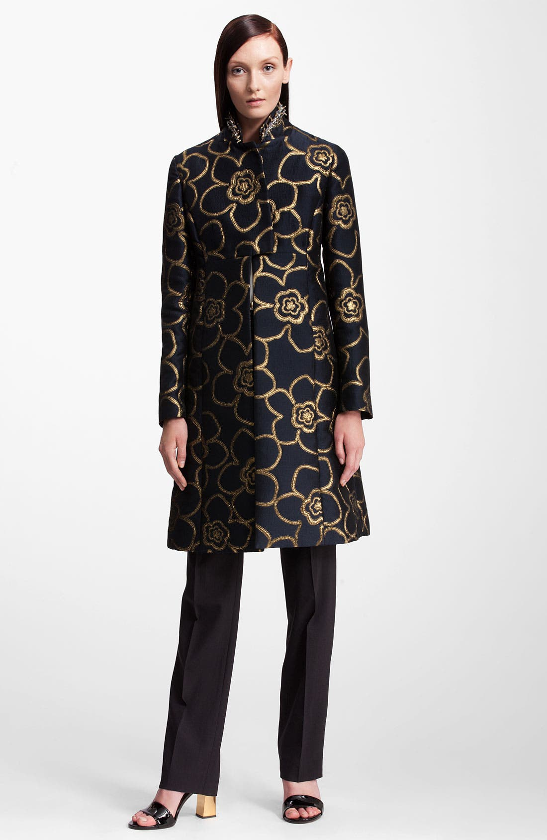 Alternate Image 4  - Marni Jewel Collar Metallic Jacquard Coat
