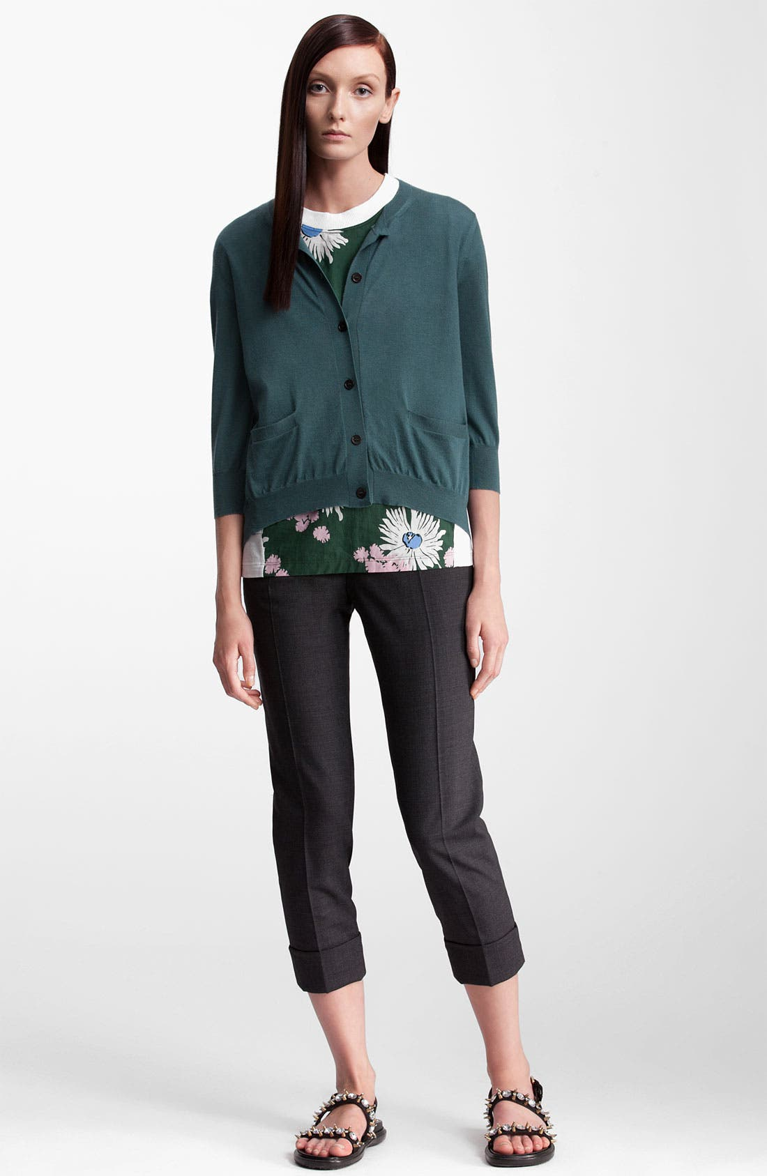 Alternate Image 4  - Marni Pocket Cashmere & Silk Cardigan