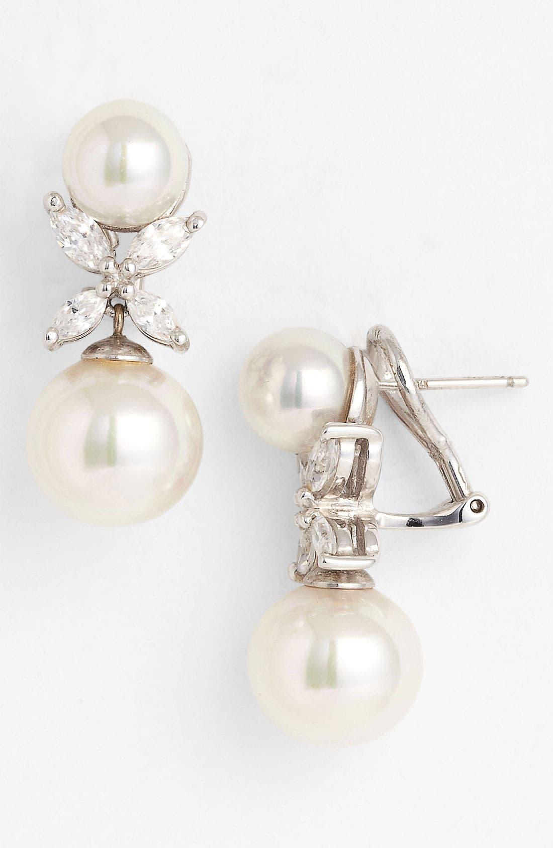 Main Image - Majorica Pearl Flower Earrings