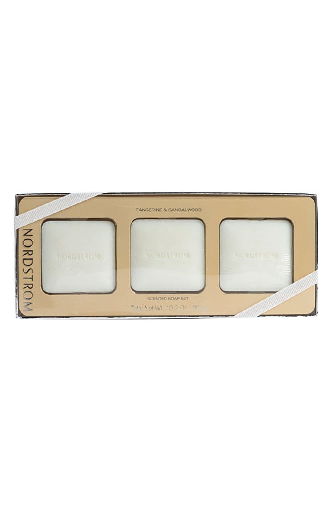 Main Image - Nordstrom 'Tangerine Flower & Sandalwood' Scented Soap Set