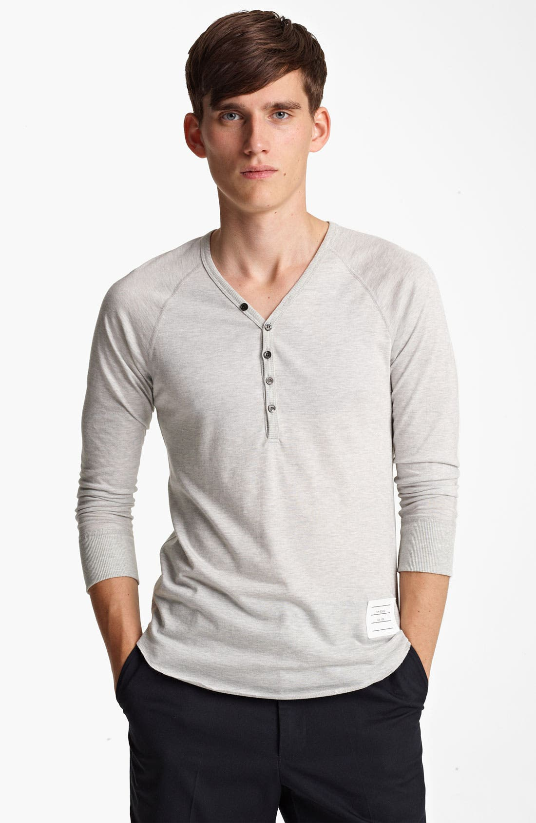 Alternate Image 1 Selected - Thom Browne V-Neck Henley