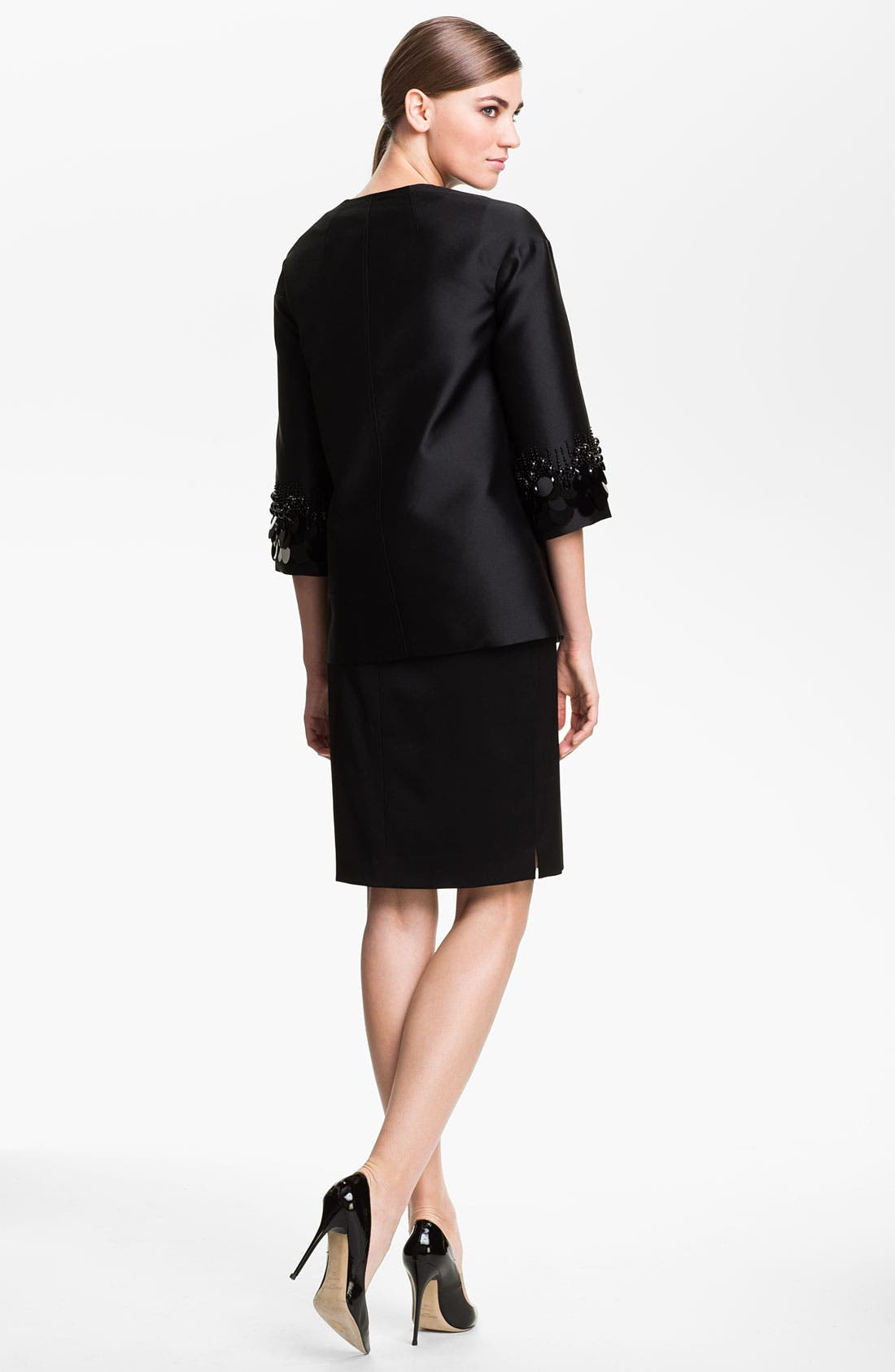 Alternate Image 3  - St. John Collection Sequin Embroidered Mikado Jacket