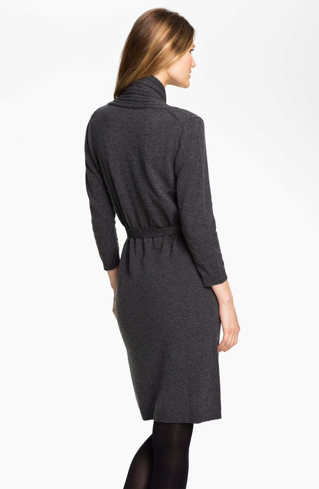 Alternate Image 2  - BOSS HUGO BOSS Faux Wrap Sweater Dress