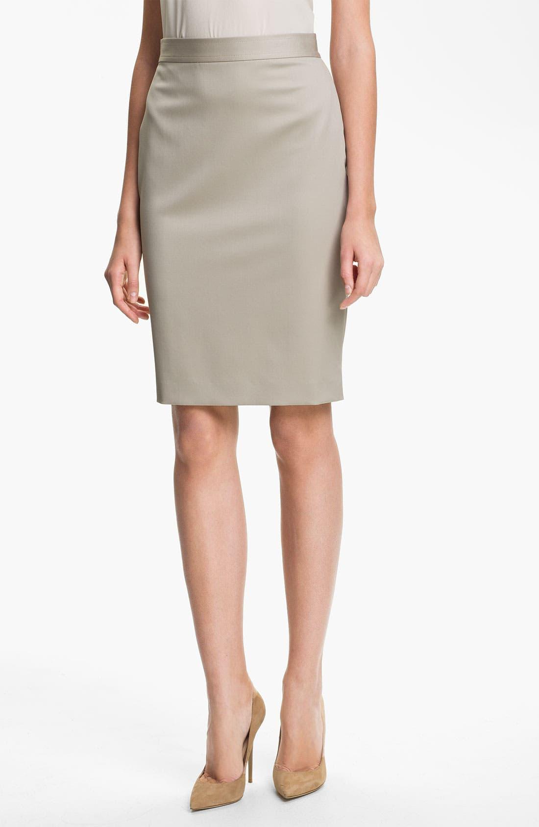 Main Image - St. John Collection Venetian Wool Pencil Skirt