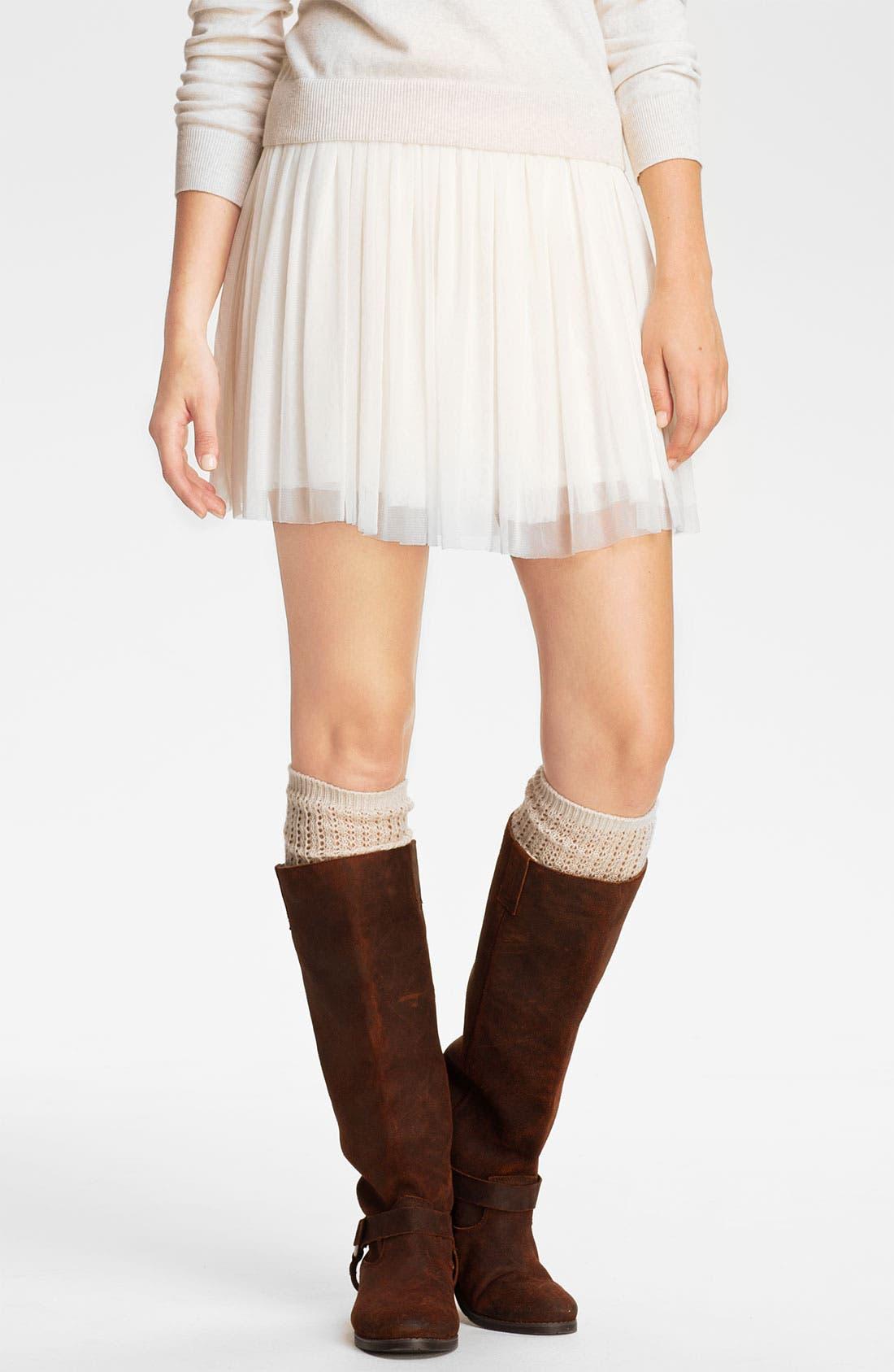 Alternate Image 1 Selected - Lily White Tulle Skirt (Juniors)