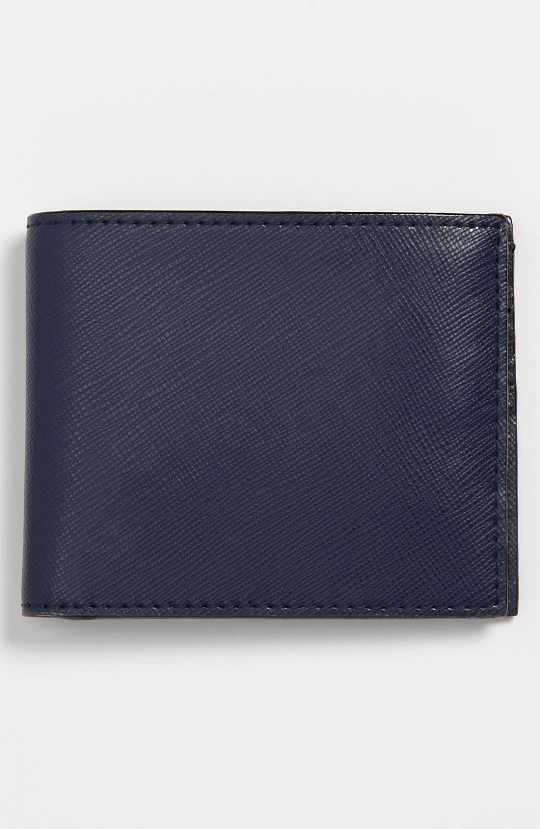 Alternate Image 1 Selected - Jack Spade Crosshatched Leather Billfold Wallet