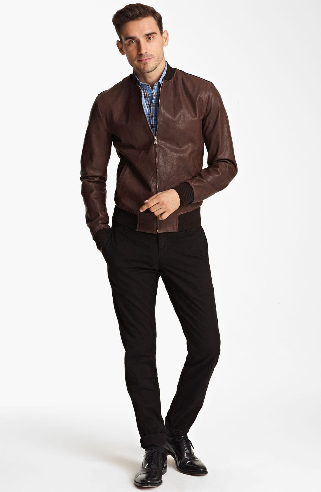 Alternate Image 4  - Dolce&Gabbana Leather Bomber Jacket