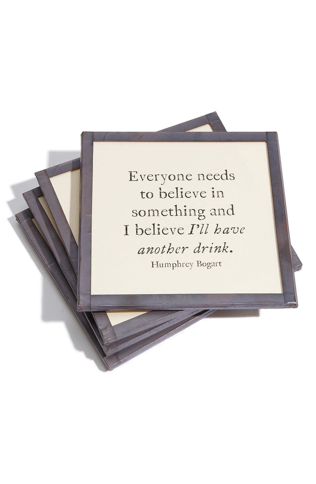 Main Image - Ben's Garden 'Everyone Needs to Believe' Coaster Set