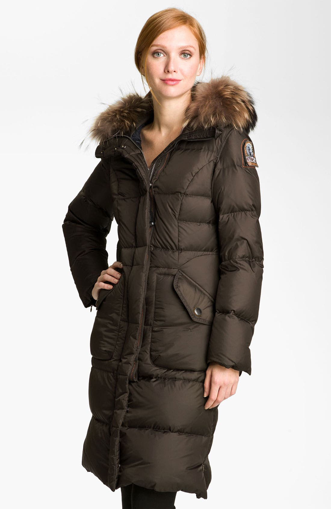 Alternate Image 1 Selected - Parajumpers Down Coat with Genuine Raccoon Fur Trim