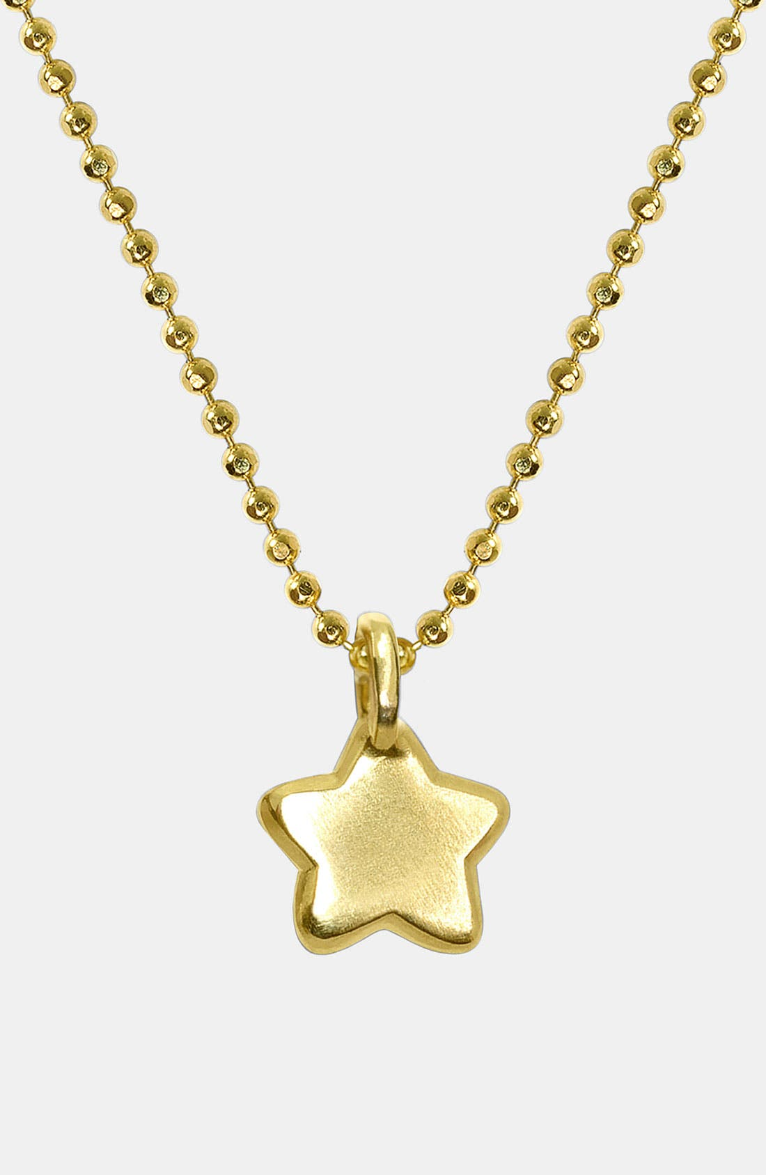 Alternate Image 1 Selected - Alex Woo 'Mini Star' 14k Gold Pendant Necklace