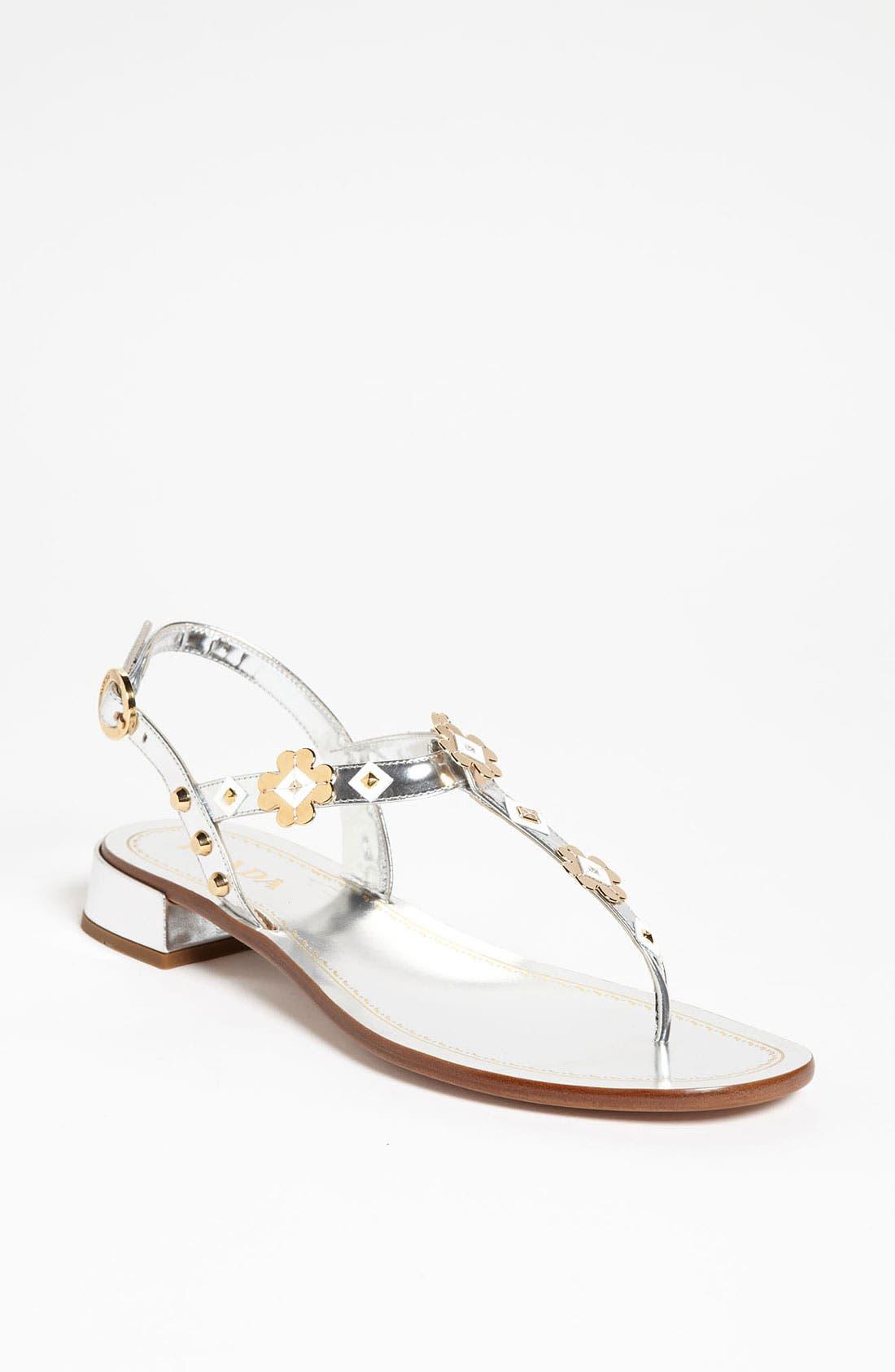 Alternate Image 1 Selected - Prada Appliqué Thong Sandal