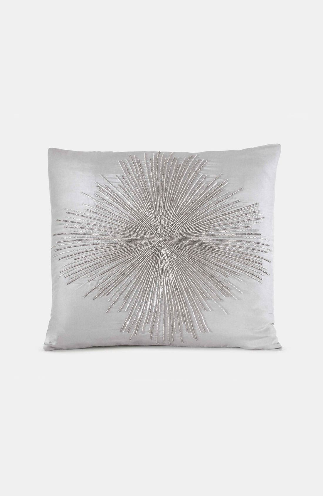 Alternate Image 1 Selected - Donna Karan 'Beaded Starburst' Silk Pillow