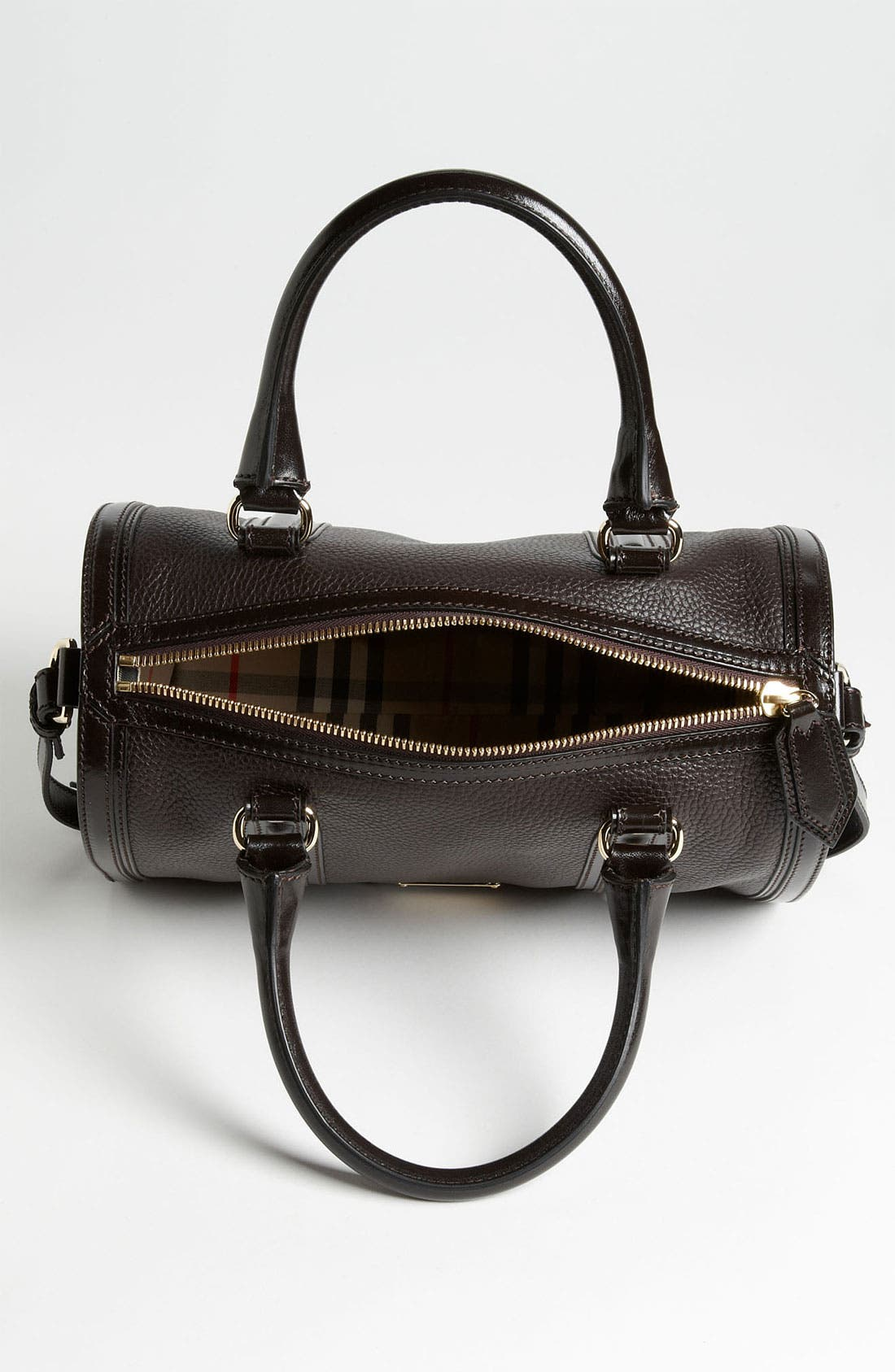 Alternate Image 3  - Burberry 'London Grainy' Leather Satchel, Medium