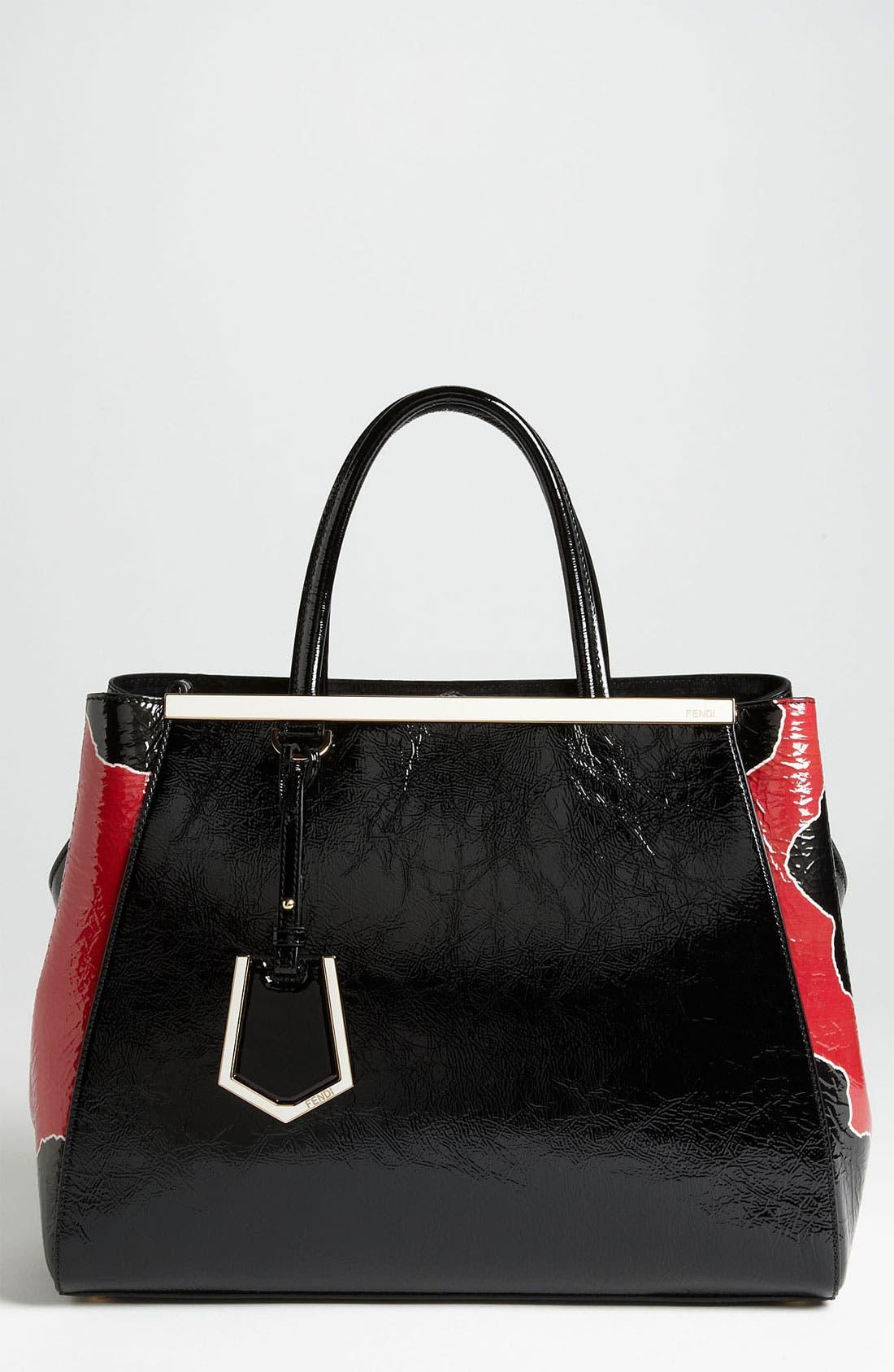 Main Image - Fendi '2Jours - Medium' Patent Leather Shopper