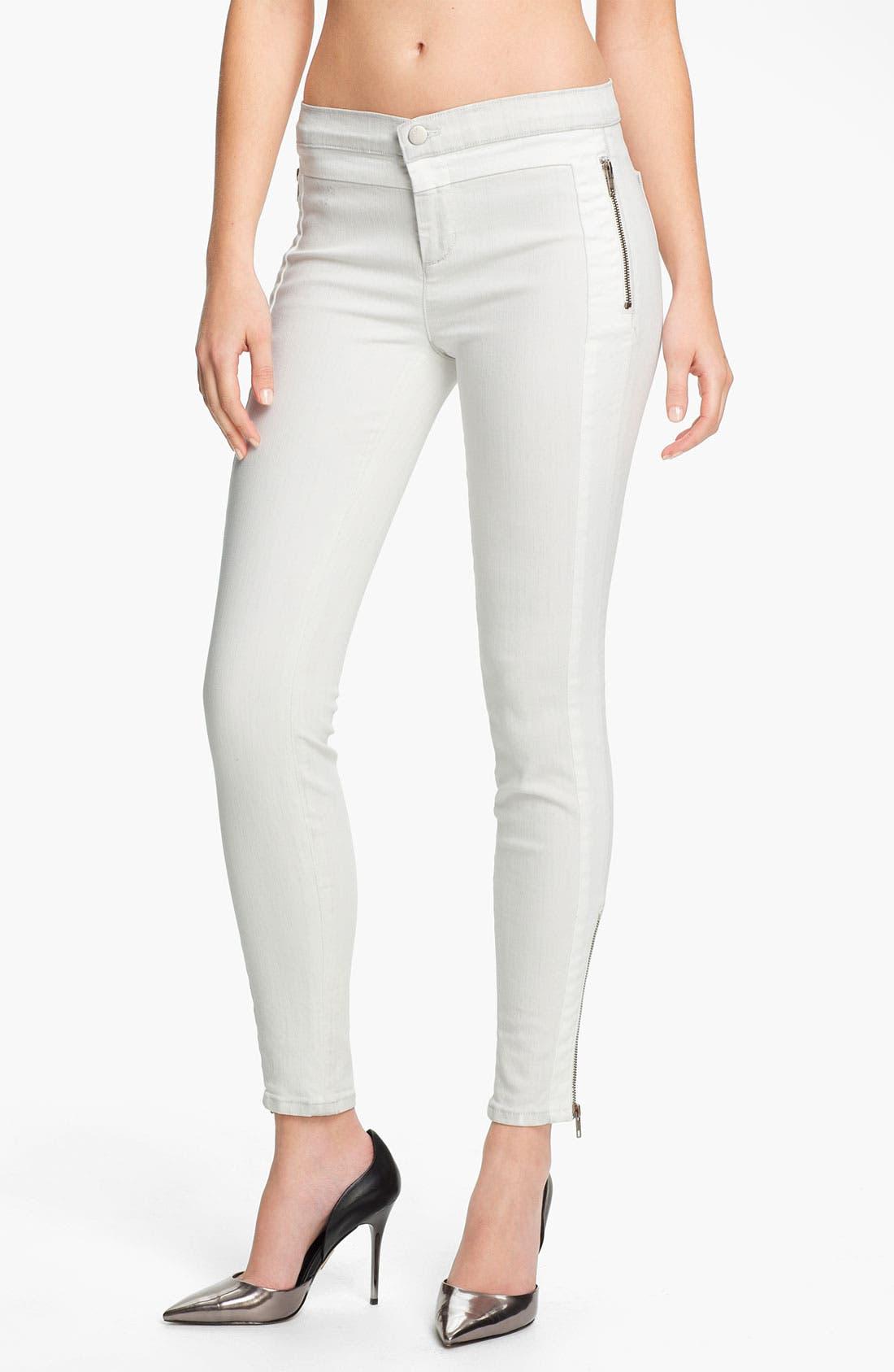 Alternate Image 1 Selected - J Brand 'Kera' Tuxedo Stripe Skinny Jeans (Iceberg)