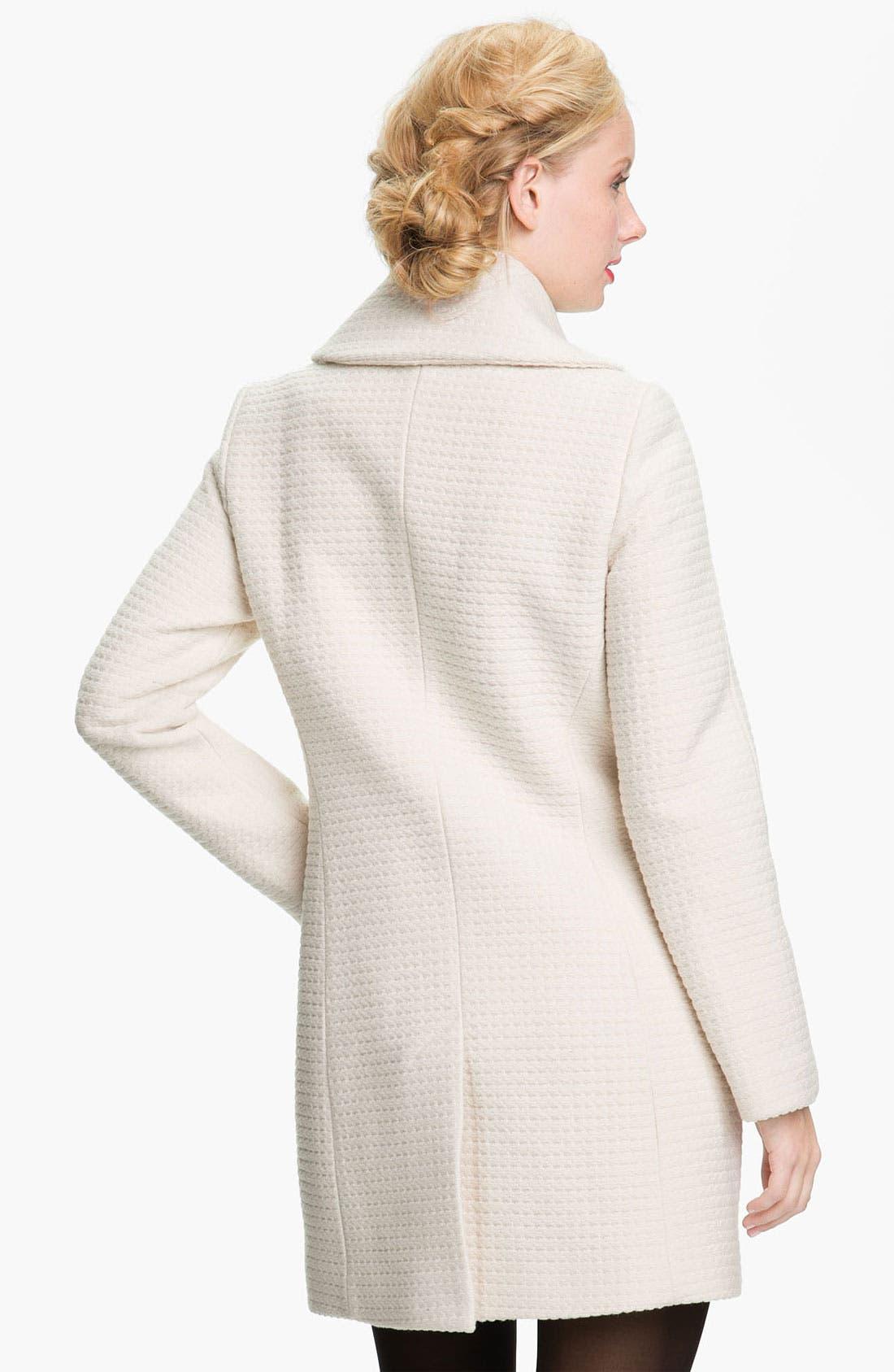 Alternate Image 2  - Trina Turk Textured Double Breasted Coat