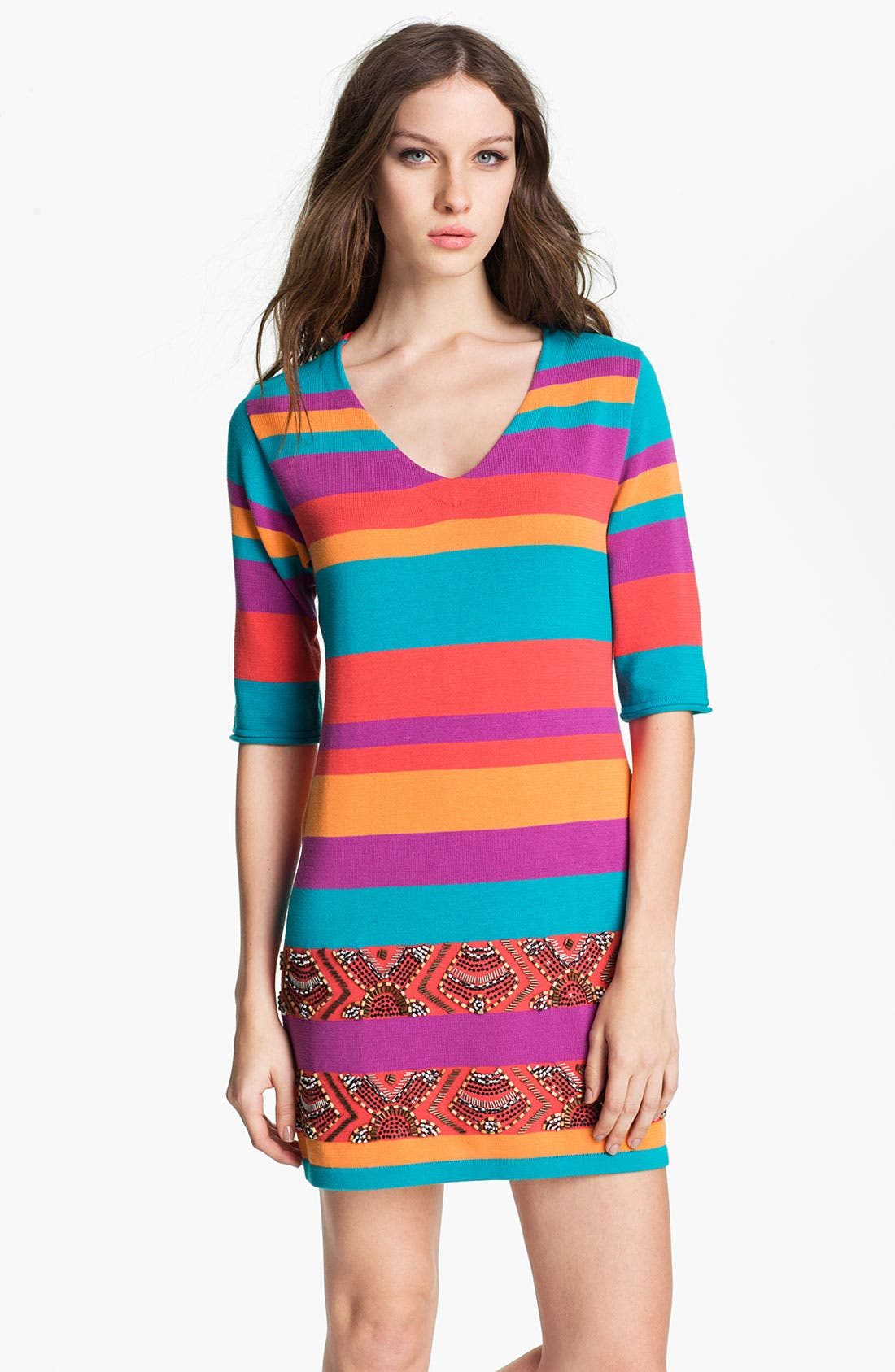 Alternate Image 1 Selected - Nanette Lepore 'Wah Wah' Cotton Sweater Dress