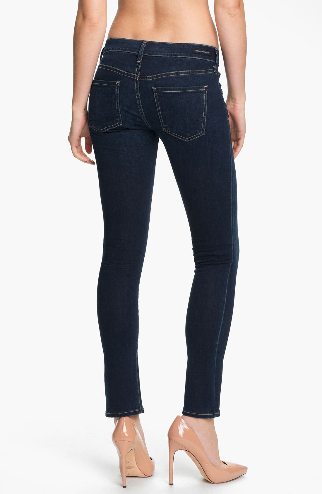 Alternate Image 2  - Citizens of Humanity 'Racer' Crop Skinny Jeans (Starry)